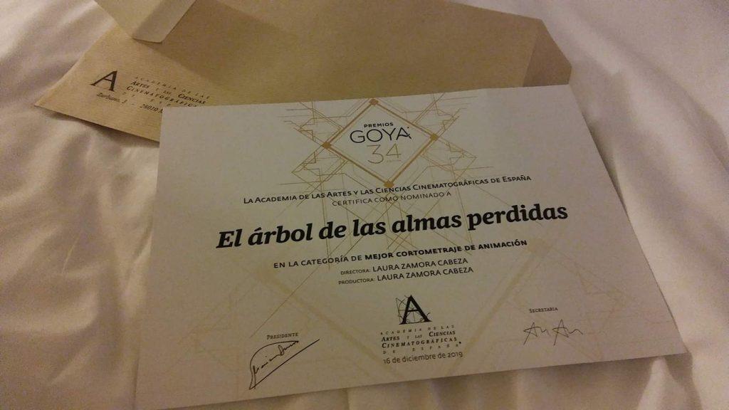 Nominación Premios Goya 2020